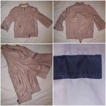 Zara basic jaknica M velicina, postavljena, 3/4 rukavi. Kao nova, - Novi Sad