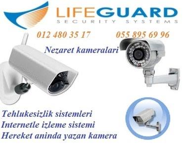 Bakı şəhərində Çöl şəraiti üçün nəzərdə tutlmuş HD təhlükəsizlik kamera sistemi