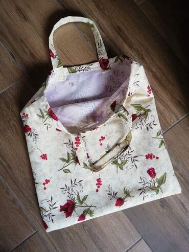 Platnene ceger torbe za kupovinu, u raznim dezenima