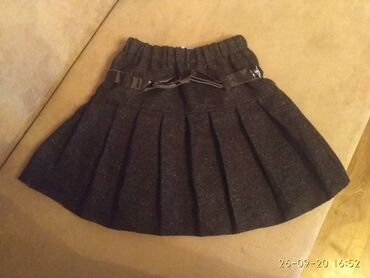Зимняя теплая юбка в школу 200 на 8-9 лет в хорошем состоянии