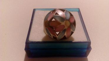 Nov,masivan prsten od srebra čistoće 925 sa sedefom u raznim - Belgrade