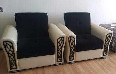 İşlənmiş divan kreslo dəsti 1divan 2kreslo.Açılan bazalıdı