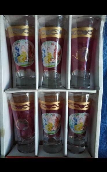 Стеклянные стаканы - Кыргызстан: Красивые стаканы, новый, цена *550*сом, торг возможен