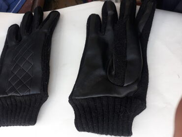 трико мужское в Кыргызстан: ТЕПЛЫЕ МУЖСКИЕ перчатки. теплые, трикотаж комбинированный с
