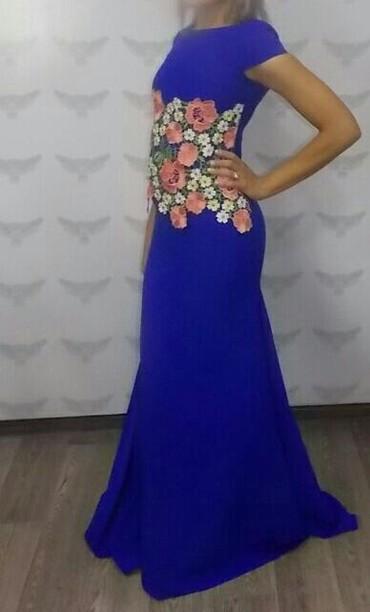 вечернее платье синий цвет в Кыргызстан: Платье вечерние новые в синем и фиолетовом цвете размеры от 42 до 48