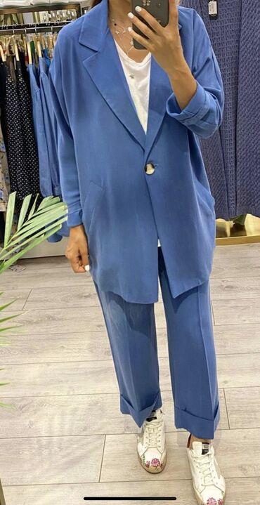 Очень классный легкий летний турецкий костюм, размер написано L но на