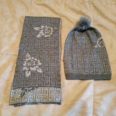 Комплект шапка и шарф, на девочку девушку в Бишкек