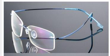 Fashion metal rimless eyeglasses frame spectacle lightweigh  - Novi Sad - slika 8