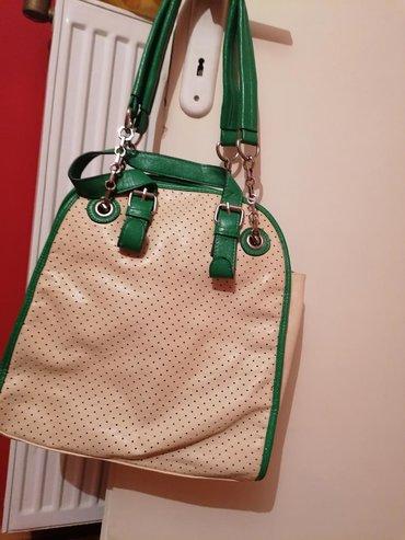 Bež-zelena torba, nova