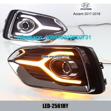 Hyundai Accent 17-18 DRL LED Daytime Running Lights autobody parts in Tīkapur