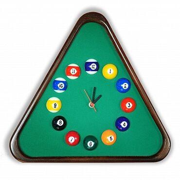 """Бильярдные столы - Кыргызстан: Часы """"Треугольник"""" ясень/сукно, лак Super DDБильярдные часы - это не"""