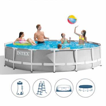 Bazen - Srbija: Porodični bazen za dvorište Intex 457x107cm sa metalnom konstrukcijom