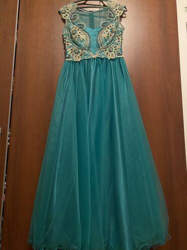 персиковое платье в пол в Кыргызстан: Продаю вечернее платье