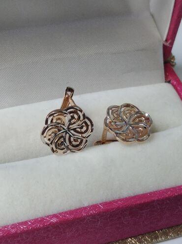 Личные вещи - Аламедин (ГЭС-2): Продаю новые золотые серьги 585 пробы.очень красивые и нежные