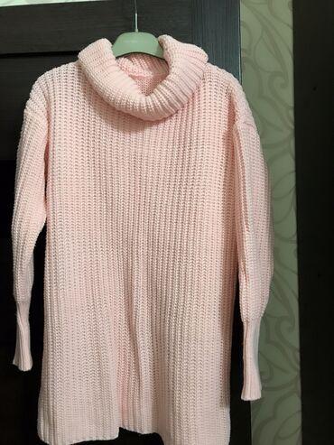 Теплый кардиган, нежно розовый цвет, цена: 350 с. Тел