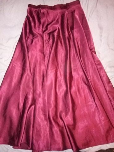 юбка бордовая в Кыргызстан: Красивая атласная юбка бордового цвета. длина юбки в пол, качество
