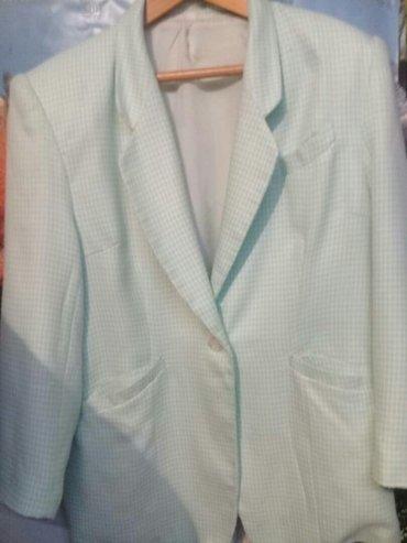 пиджак женский с подкладом,р. 48-50-52,ц. 250 сом,светло зелёный... в Бишкек