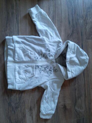 H&M decija bela jaknica sa krznom. Veličina 74