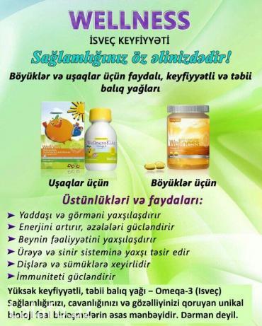 Bakı şəhərində Omeqa 3 balıq yağı.