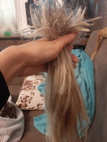 tebii sac qiymeti в Азербайджан: Tebii saç uzun kare kesilib