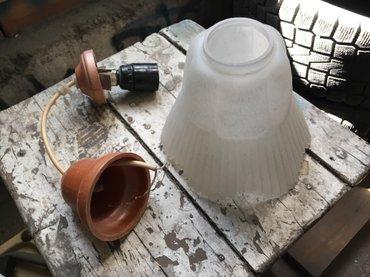 торшер со стеклянным абажуром в Кыргызстан: Лампа (абажур) Патрон и стекло целые