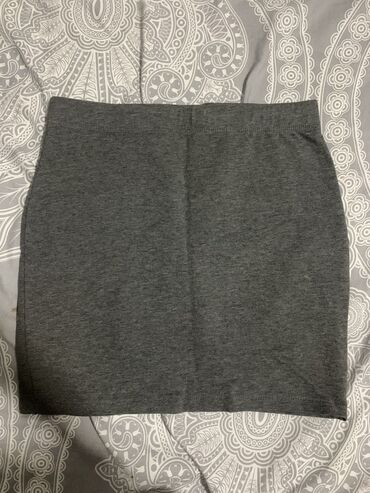 Pamucna siva suknja, jednom nosena-kao nova