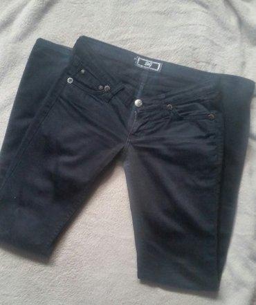 Crne skinny pantalone, plici model, kopija d&g. Velicina s (36). - Ruma