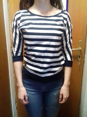 Marvel strip majica - Srbija: Plavo-bela (38) majica na pruge sa 3/4 rukavima. Pamučna, odlično