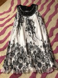 Crno bela haljinica u velicini S,100% viskoza ,nosena par puta  - Kragujevac