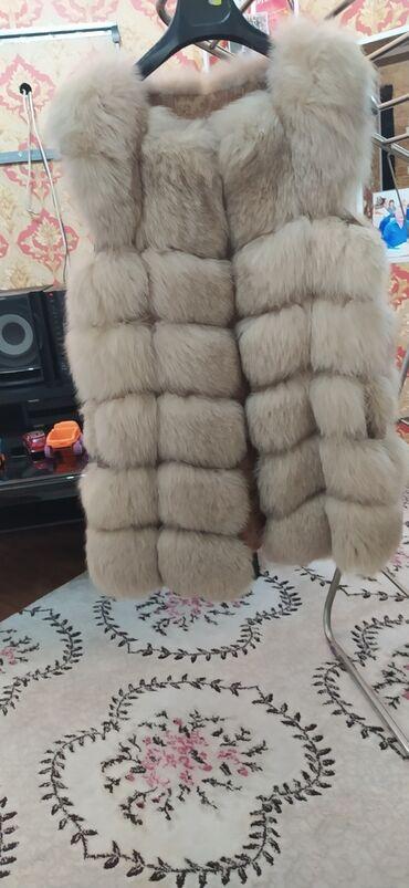 Жилетки - Кыргызстан: Срочно! Меховая жилетка натуралка,46-48размер