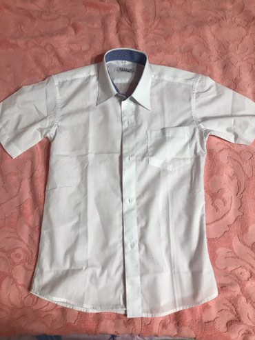 бодики с коротким рукавом в Кыргызстан: Рубашка школьная новаяни разу не одевали на мальчика 8 летс коротк