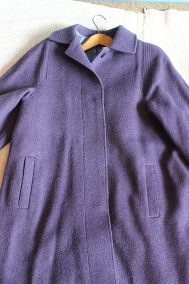 Пальто женское демисезонное, размер 44-46, натуральная шерсть. в Бишкек