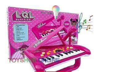 LOL Surprise klavir sa mikrofonom za devojčice mnogo zvučnih i