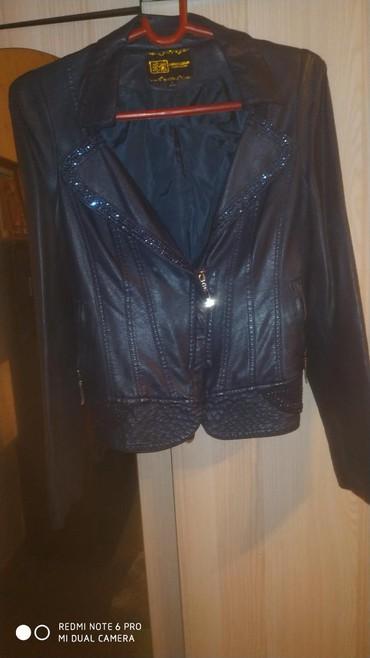 синий пиджак женский в Кыргызстан: Кожаный пиджак в отличном состоянии размер 44