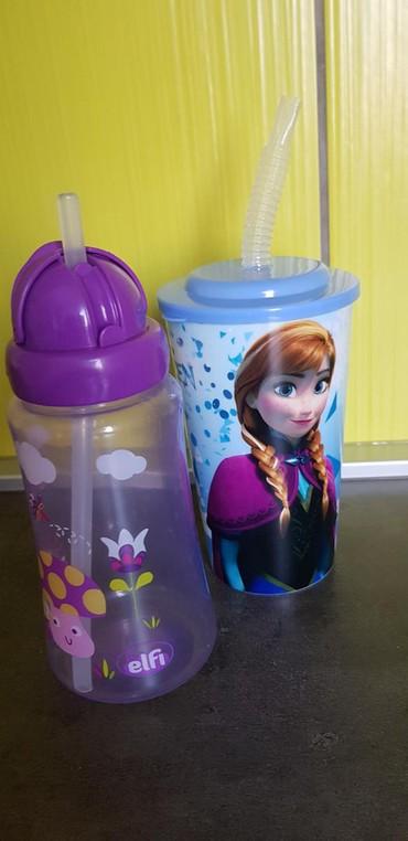 Frozen-kompleticine - Srbija: Flasice za decu, jako malo koriscene. plasticni tanjirici, case i