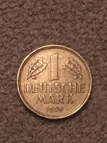 Спорт и хобби - Ширван: Alman pulu 1950 ci ile aid  DEUTSCHE MARK 1950 1 mark