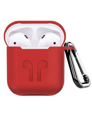 Силиконовый чехол для наушников Apple AirPods. Противоударный бампер