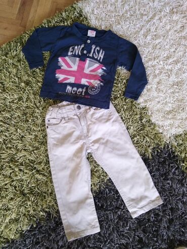 Dečiji Topići I Majice | Zabalj: Vel. 86 H&m pantalone od tankog kepera i majica dugih rukava