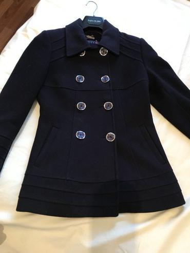 приталенное пальто в Кыргызстан: Полу-пальто очень качественное, приталенное, темно-синего цвета