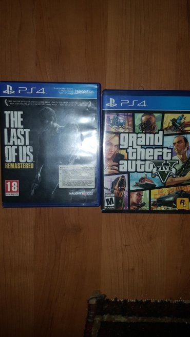The Last Of Us i GTA 5 original diskovi neoštećeno, za ps4 - Beograd