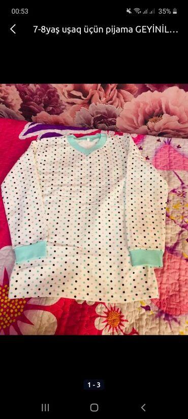 pijama - Azərbaycan: 7-8yaşçün pijama geyinilmiyib pambiq materialı var