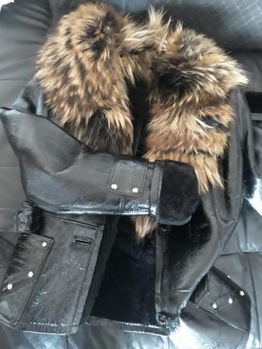 Pre - Srbija: Ekstra kvalitetna kožna jakna sa krznom lisice. Piše na njoj XXL ali v