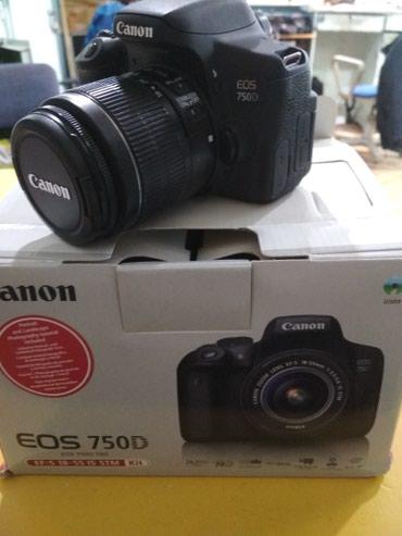 Продаю фотоаппарат canon 750d с объективом в Бишкек