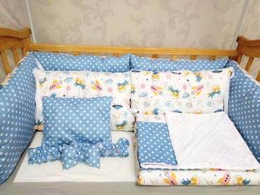 Детская мебель в Кок-Ой: Бортики на заказ. В комплекте 6 шт бортиков, тонкое одеяло,теплое