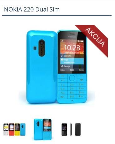 Mobilni telefoni - Crvenka: Nokia 220 dual sim,nova original u fabrickoj kutiji,kamera 2 mp,led