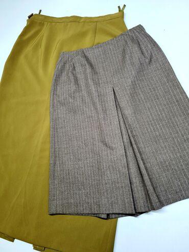 Юбки женские Весна/Лето -20% размер: 48 (зеленая) размер: М (коричнев