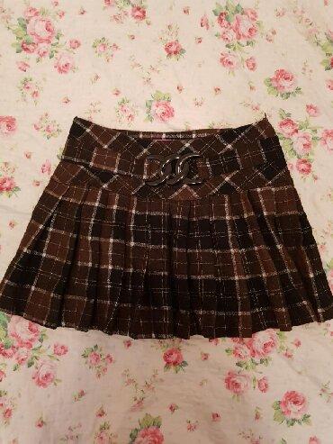 Zimska mini karirana suknja poluobim struka je - Srbija: Karirana mini suknja, S/M, kao nova,prvo uplata na racun pa saljem