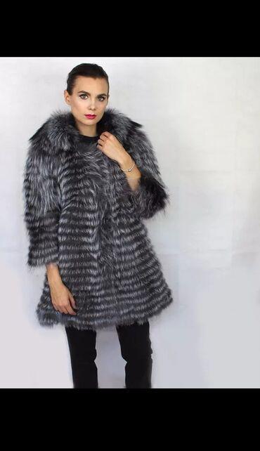 Nova bunda od srebrne lisice. Tanja bunda,laganija. Narucujem stize za