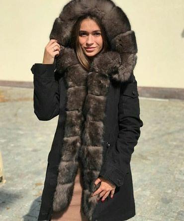Парка Из натурального меха Песца размер S-M в Бишкек