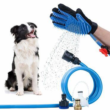 Odelce za psa - Srbija: Rukavica sa crevom za kupanje psa